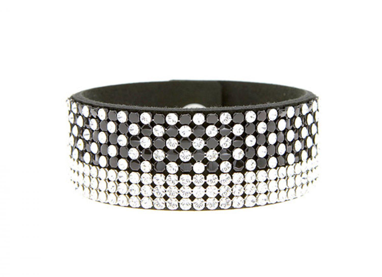 armband swarovski elements black and white v spark. Black Bedroom Furniture Sets. Home Design Ideas