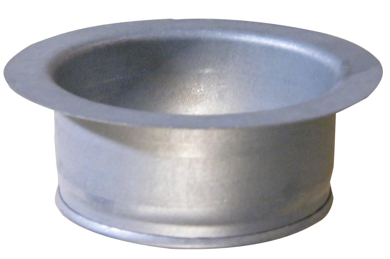 Turbo Anschlußflansch / Bundkragen 100 mm Wickelfalzrohr,Abluftrohr  GW88