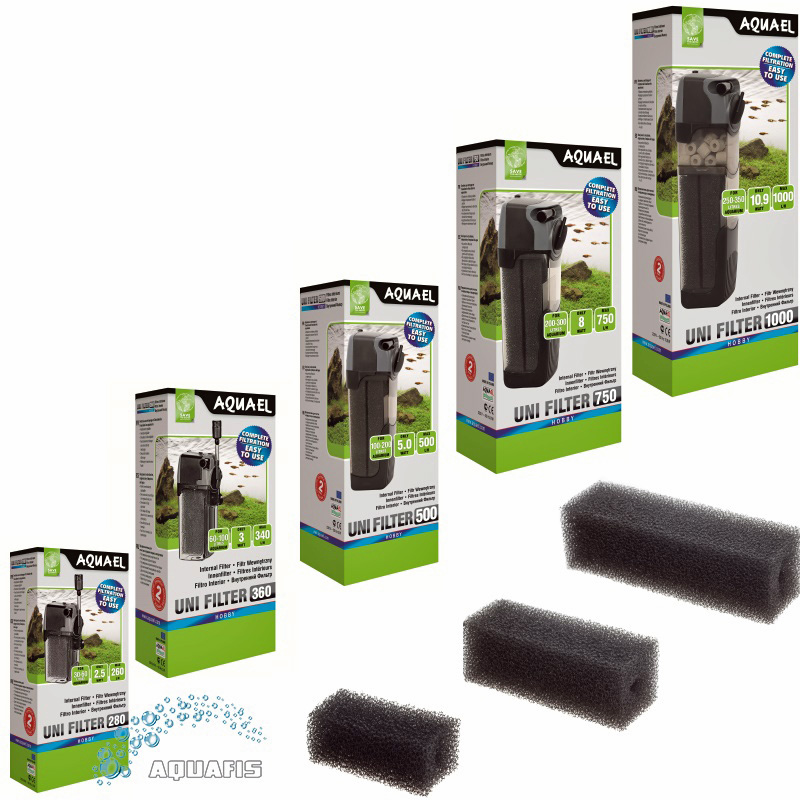 aquarium innenfilter aquael unifilter serie schwammfilter pumpe sauerstoff top ebay. Black Bedroom Furniture Sets. Home Design Ideas