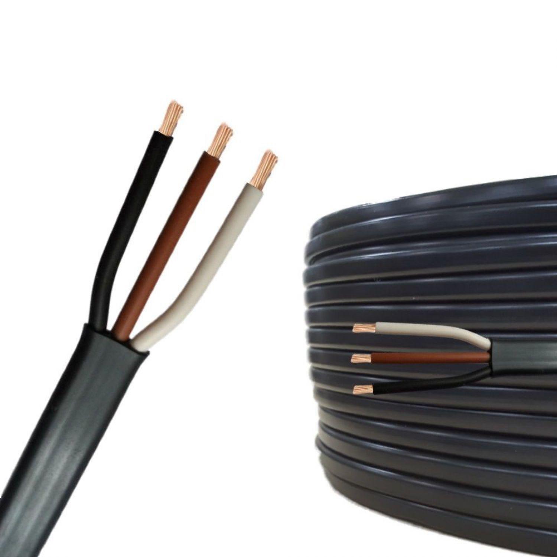Flachkabel 3x1,5 mm² Meterware 3 adrig Anhängerkabel Elektrokabel | eBay