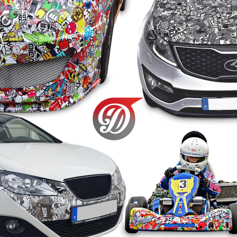 NEU Stickerbomb Folie - JDM Autofolie Sticker Bomb | 3D Car ...