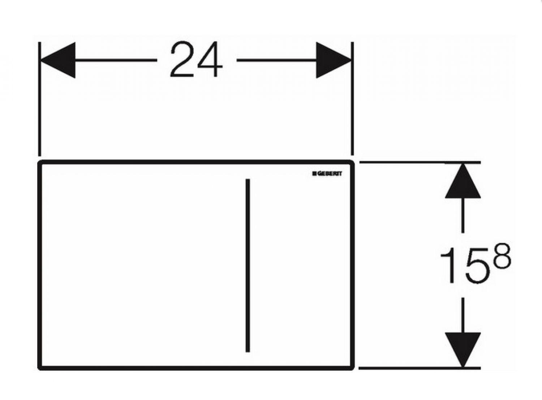 geberit placca di comando sigma 70 vetro bianco per 2 quantit ebay. Black Bedroom Furniture Sets. Home Design Ideas
