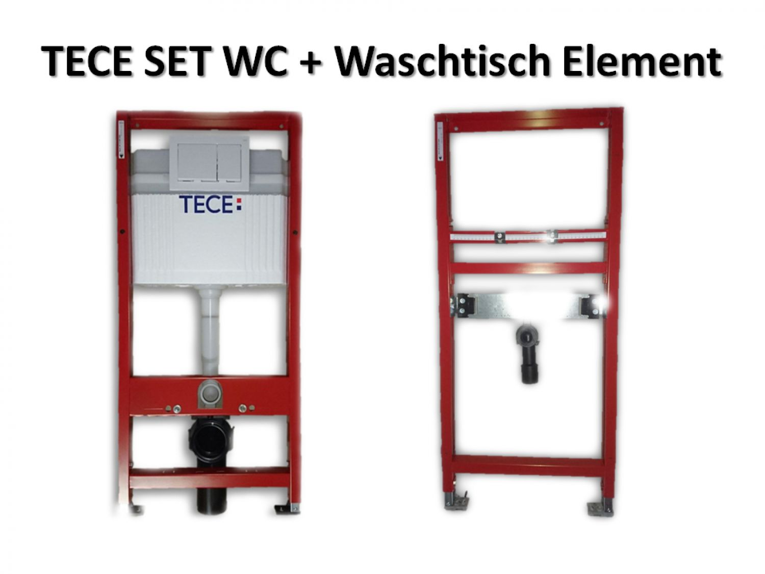 tece wc waschtisch set sp lkasten nr 9400000 9310000 inkl dr ckerplatte weis ebay. Black Bedroom Furniture Sets. Home Design Ideas