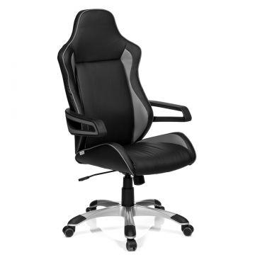gaming stuhl b rostuhl racer pro kunstleder schwarz grau hjh office ebay. Black Bedroom Furniture Sets. Home Design Ideas
