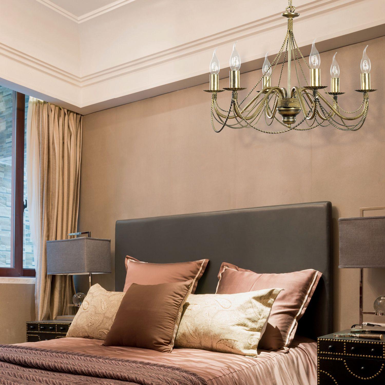 Kronleuchter Modern Deckenleuchte Lüster Gold Deckenlampe ... Schlafzimmer Gold Modern