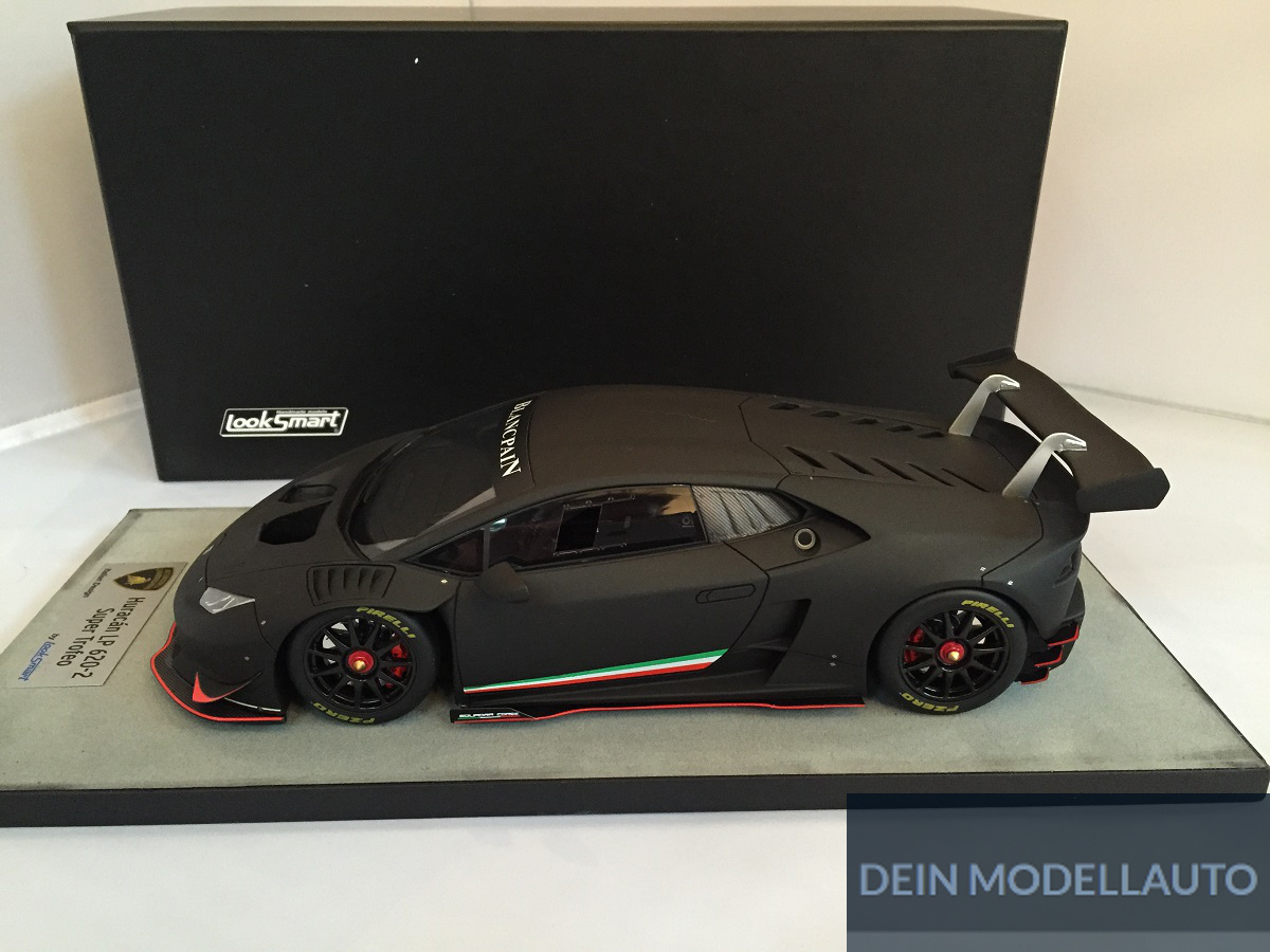 lamborghini huracan lp 620 2 super trofeo nero nemesis 1 18 ls18 02e looksmart ebay. Black Bedroom Furniture Sets. Home Design Ideas
