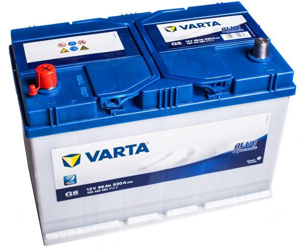 varta blue dynamic 595405083 g8 12v 95ah 830a autobatterie. Black Bedroom Furniture Sets. Home Design Ideas