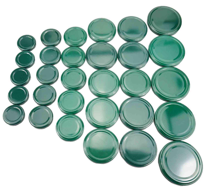 30 twist off deckel ersatzdeckel 6 gr en farbe gr n schraubdeckel f r gl ser ebay. Black Bedroom Furniture Sets. Home Design Ideas