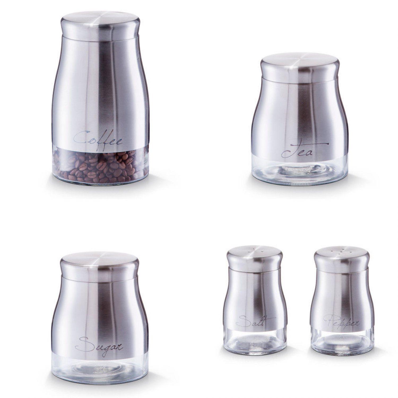 Vorratsdosen Glas vorratsdosen zucker kaffee salz pfeffer streuer dose behälter