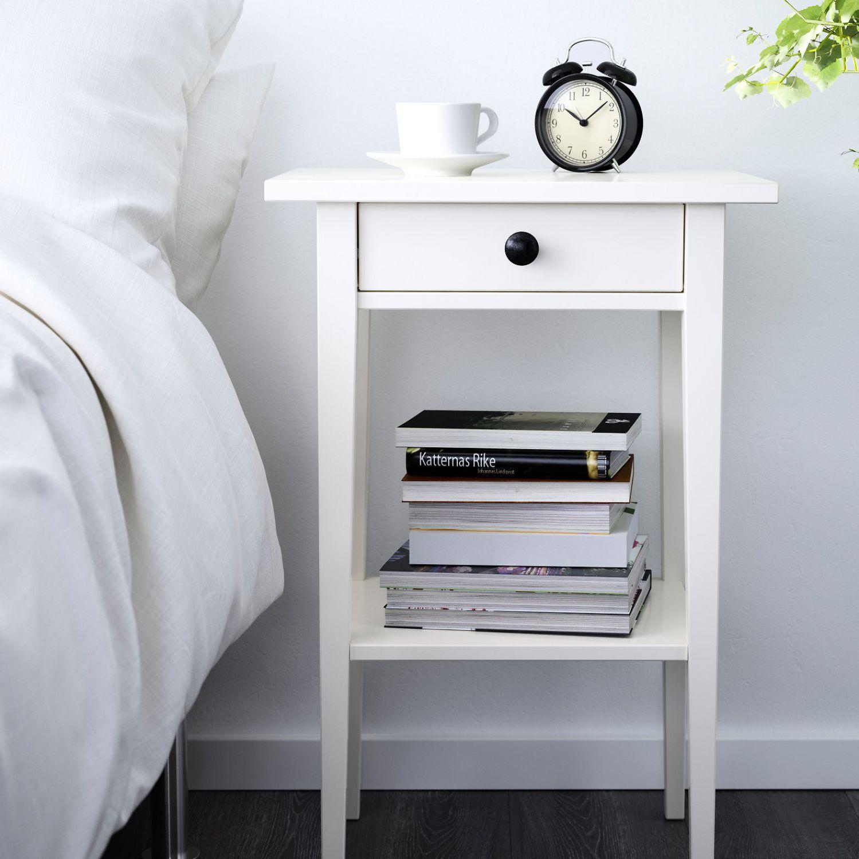 ikea hemnes ablagetisch holz wei beistelltisch nachttisch. Black Bedroom Furniture Sets. Home Design Ideas