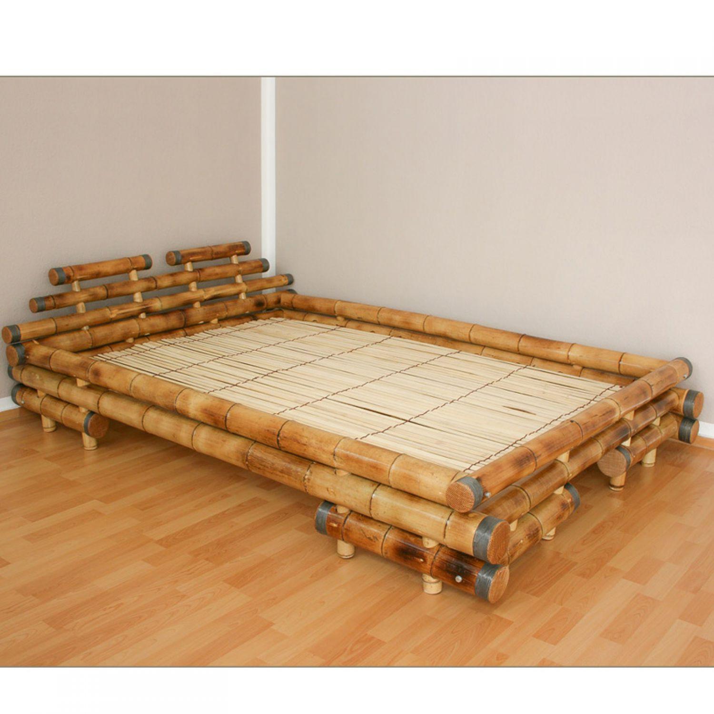 bambusbett bambus bett 180 x 200 braun massiv doppelbett. Black Bedroom Furniture Sets. Home Design Ideas