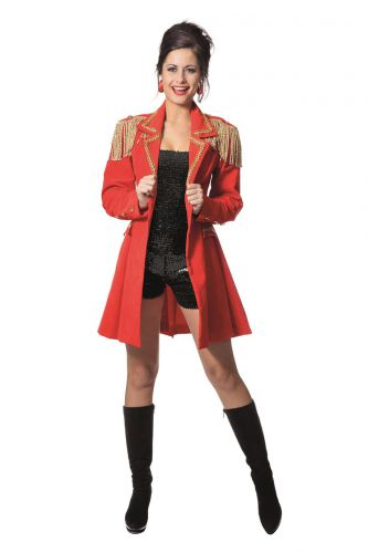 zirkus direktorin kost m damen karneval fasching damenkost m rot jacke ebay. Black Bedroom Furniture Sets. Home Design Ideas