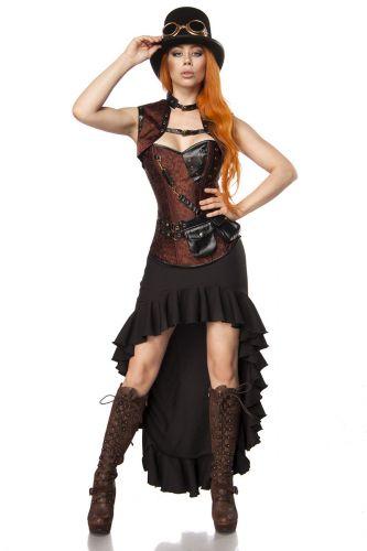 mask paradise steampunk lady kost m damenkost m karneval. Black Bedroom Furniture Sets. Home Design Ideas