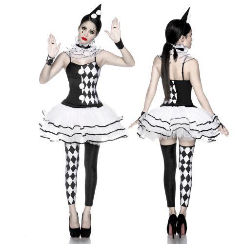 sexy harlekinkost m harlekin kost m clown karneval. Black Bedroom Furniture Sets. Home Design Ideas