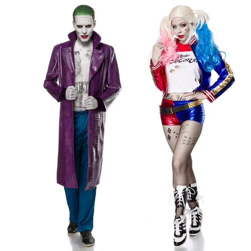 joker kost m damen herren halloween karneval fasching partnerkost m batman neu ebay. Black Bedroom Furniture Sets. Home Design Ideas