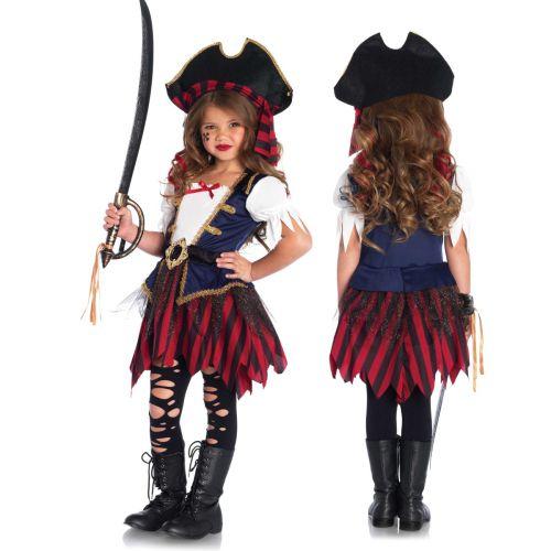 pirat piratin kleid kost m kinder m dchen piratenkost m. Black Bedroom Furniture Sets. Home Design Ideas