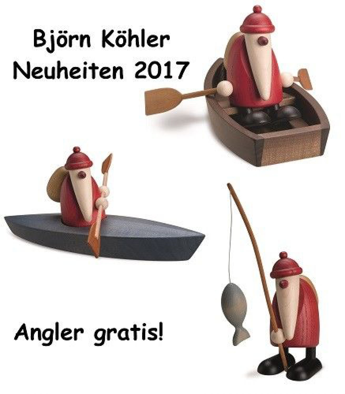 Björn Köhler Weihnachtsmann 2017 Paddelboot Ruderboot im 2er Set + ...