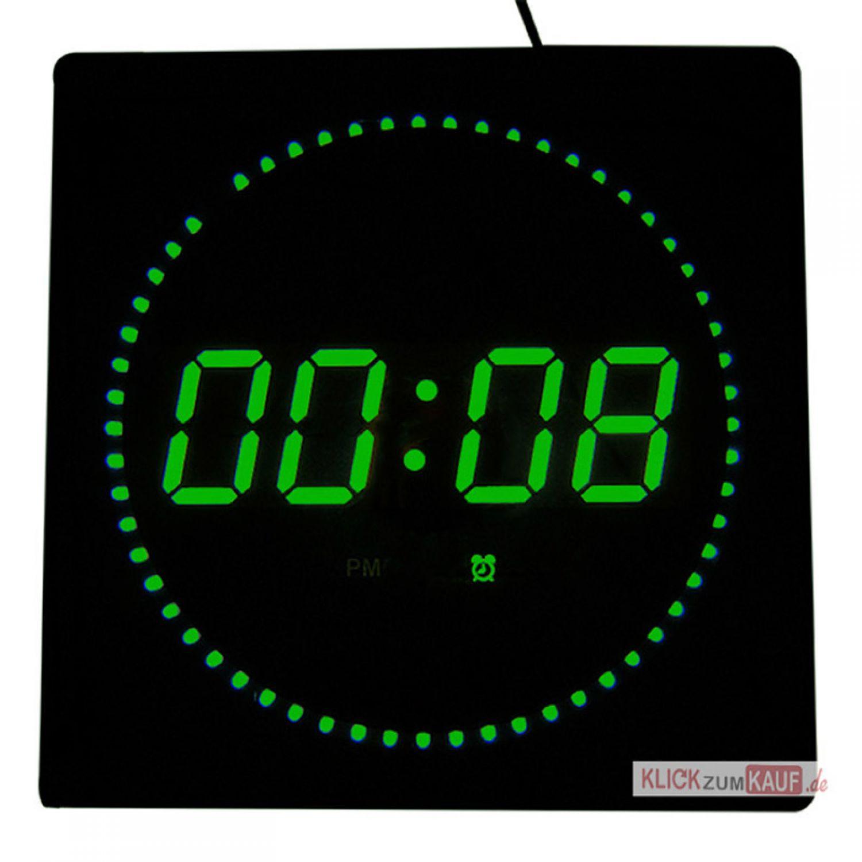 led digitale wanduhr mit datum temperaturanzeige in. Black Bedroom Furniture Sets. Home Design Ideas