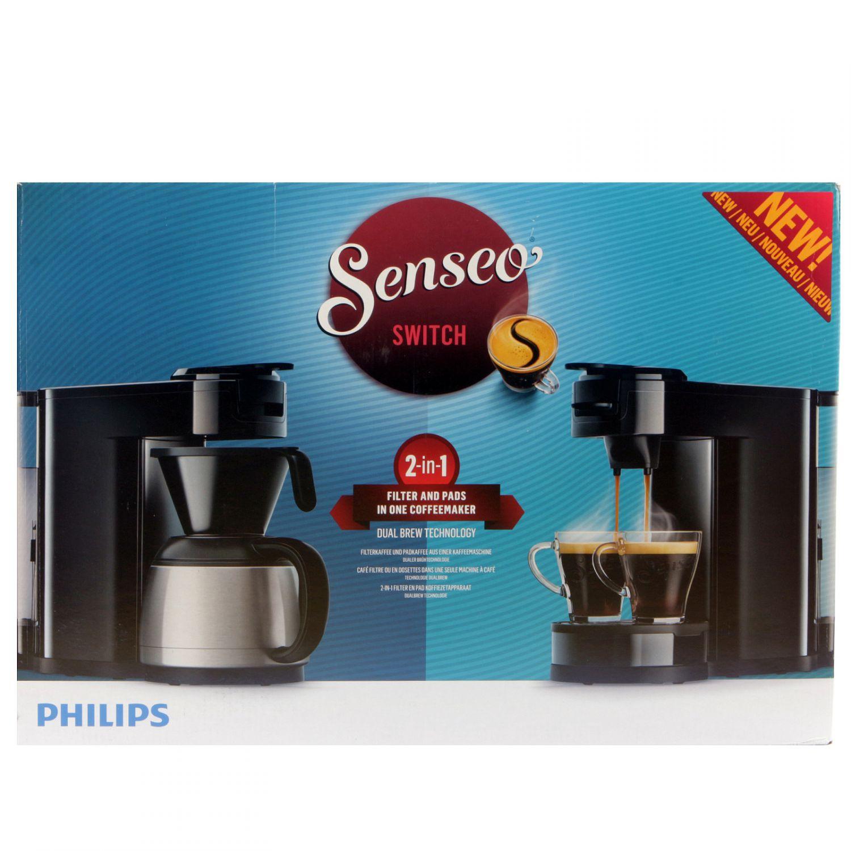 philips senseo hd7892 60 switch 2 in 1 kaffeemaschine schwarz ebay. Black Bedroom Furniture Sets. Home Design Ideas