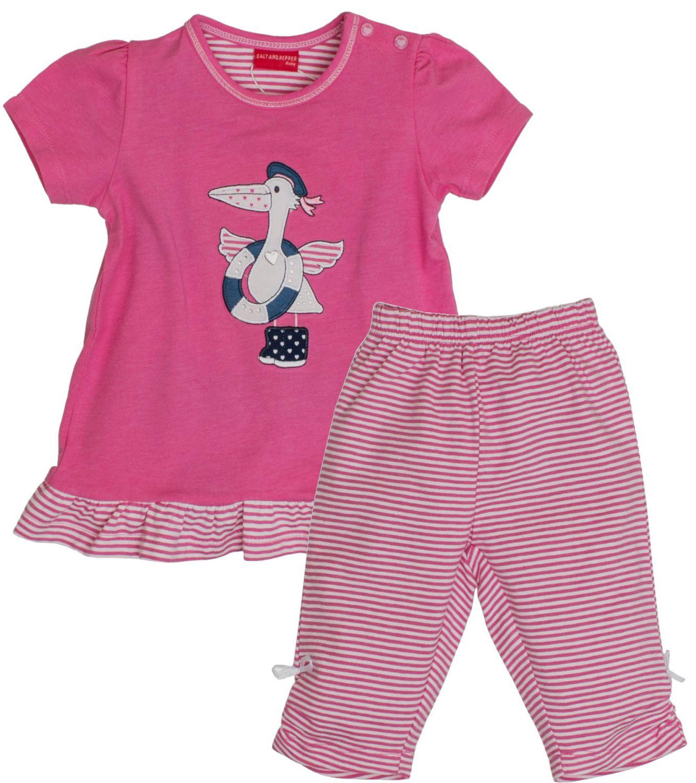 Mädchen Set T-Shirt Capri Shorts aus der  Serie Beach SALT AND PEPPER BABY