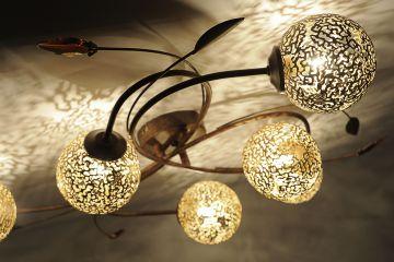 paul neuhaus greta deckenleuchte rost 6398 48 ebay. Black Bedroom Furniture Sets. Home Design Ideas