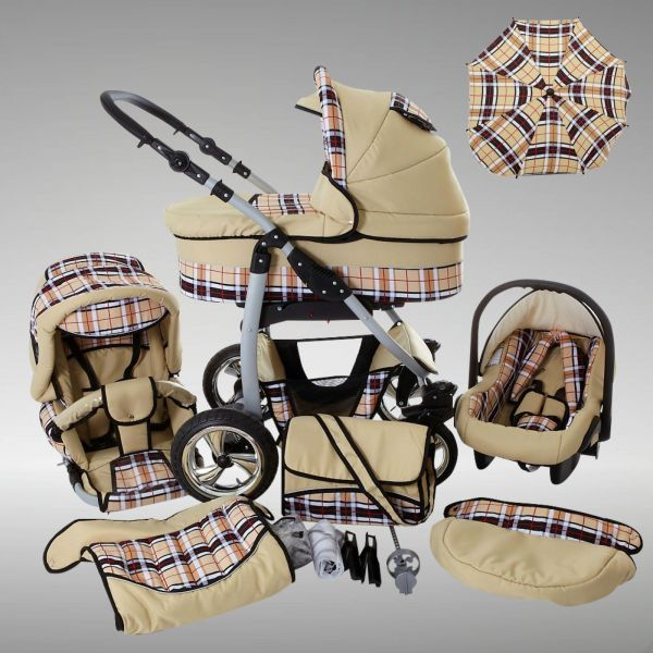 chilly kids dino kinderwagen sommer set babyschale schirm ebay. Black Bedroom Furniture Sets. Home Design Ideas