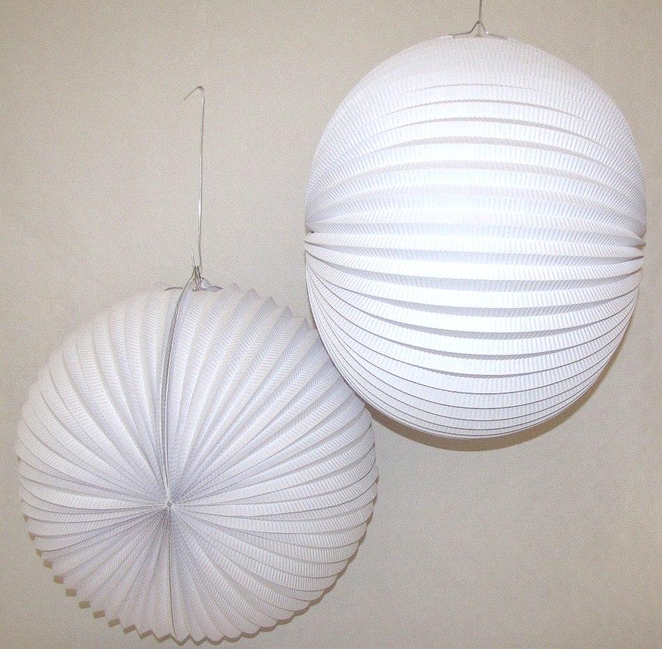 lampions riesenlampions wei 2er pack d50cm papierlampions schwer entflammbar ebay. Black Bedroom Furniture Sets. Home Design Ideas