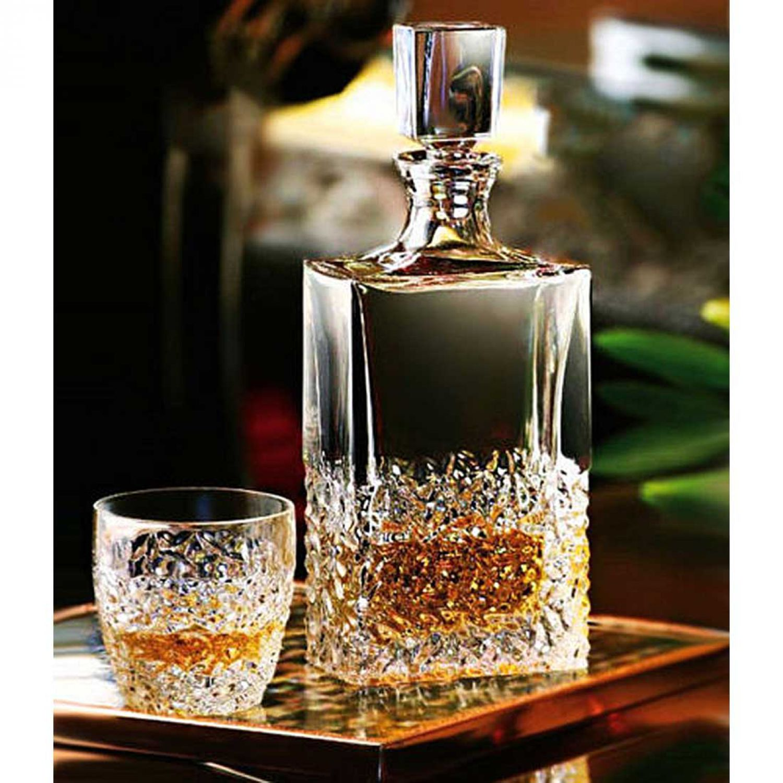 whisky set geschenk set kristall karaffe 2 whisky gl ser nicolette bohemia neu ebay. Black Bedroom Furniture Sets. Home Design Ideas