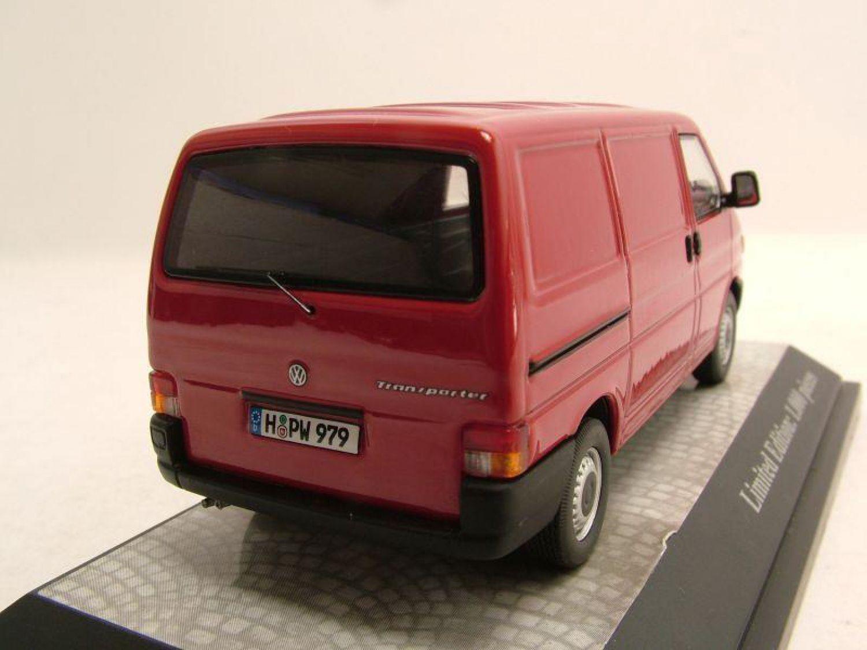 vw t4 bus transporter red model car 1 43 premium. Black Bedroom Furniture Sets. Home Design Ideas
