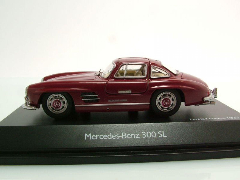 mercedes 300 sl w198 gullwing 1954 bordeaux red model. Black Bedroom Furniture Sets. Home Design Ideas