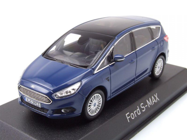 Ford S Max 2015 Blue Model Car 143 Norev