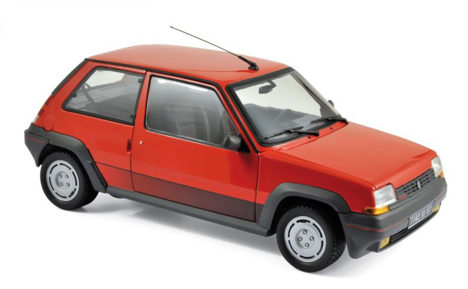 renault 5 supercinq gt turbo 1989 rouge mod le de voiture. Black Bedroom Furniture Sets. Home Design Ideas