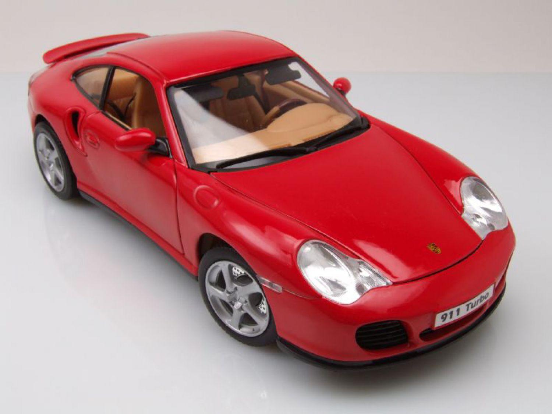 porsche 911 996 turbo rot modellauto 1 18 welly ebay. Black Bedroom Furniture Sets. Home Design Ideas
