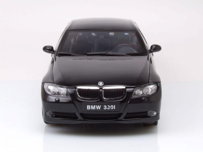 bmw 330i e90 2006 schwarz modellauto 1 18 welly ebay. Black Bedroom Furniture Sets. Home Design Ideas