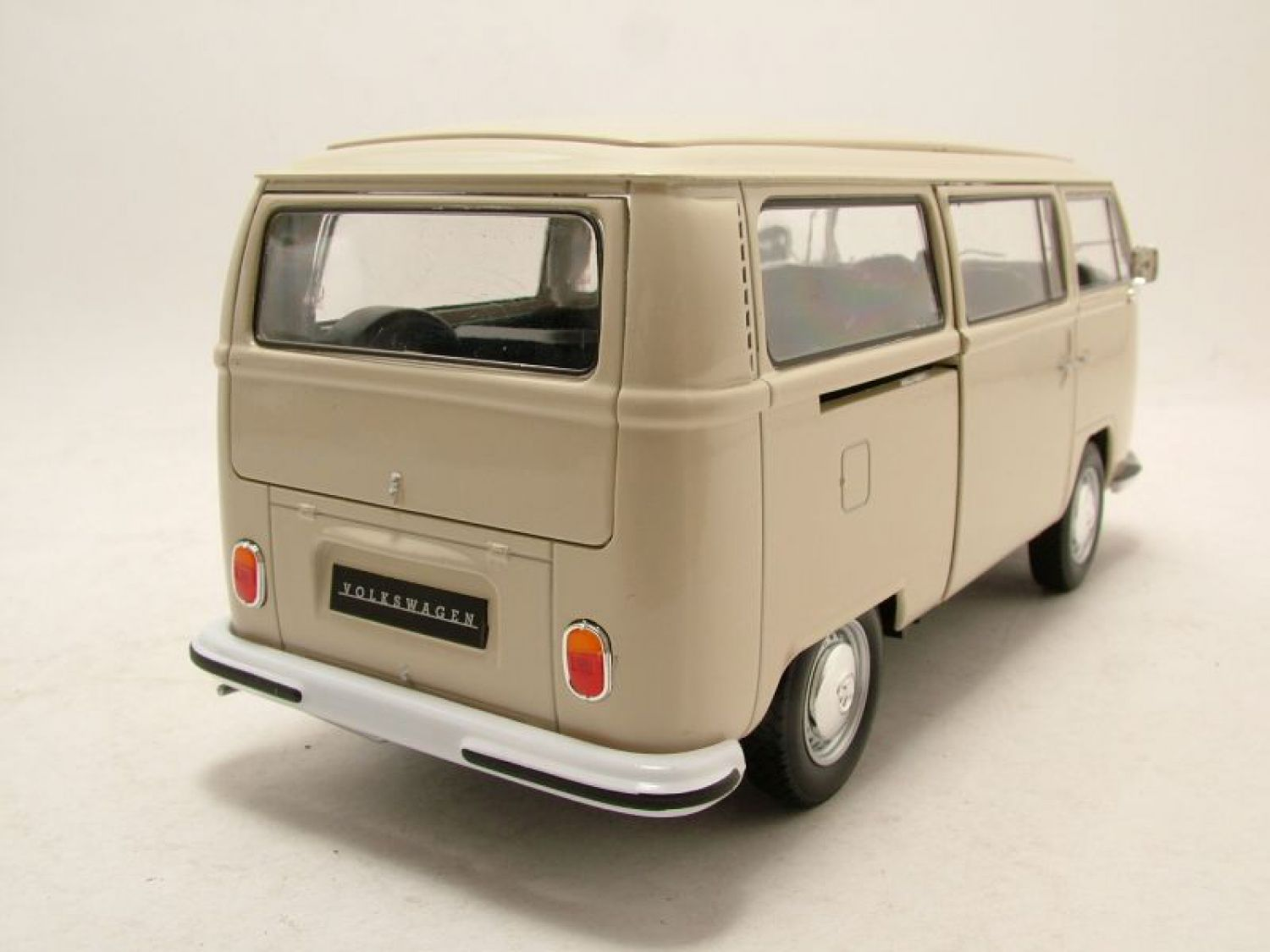 vw bus t2 1972 creme modellauto 1 24 welly ebay. Black Bedroom Furniture Sets. Home Design Ideas