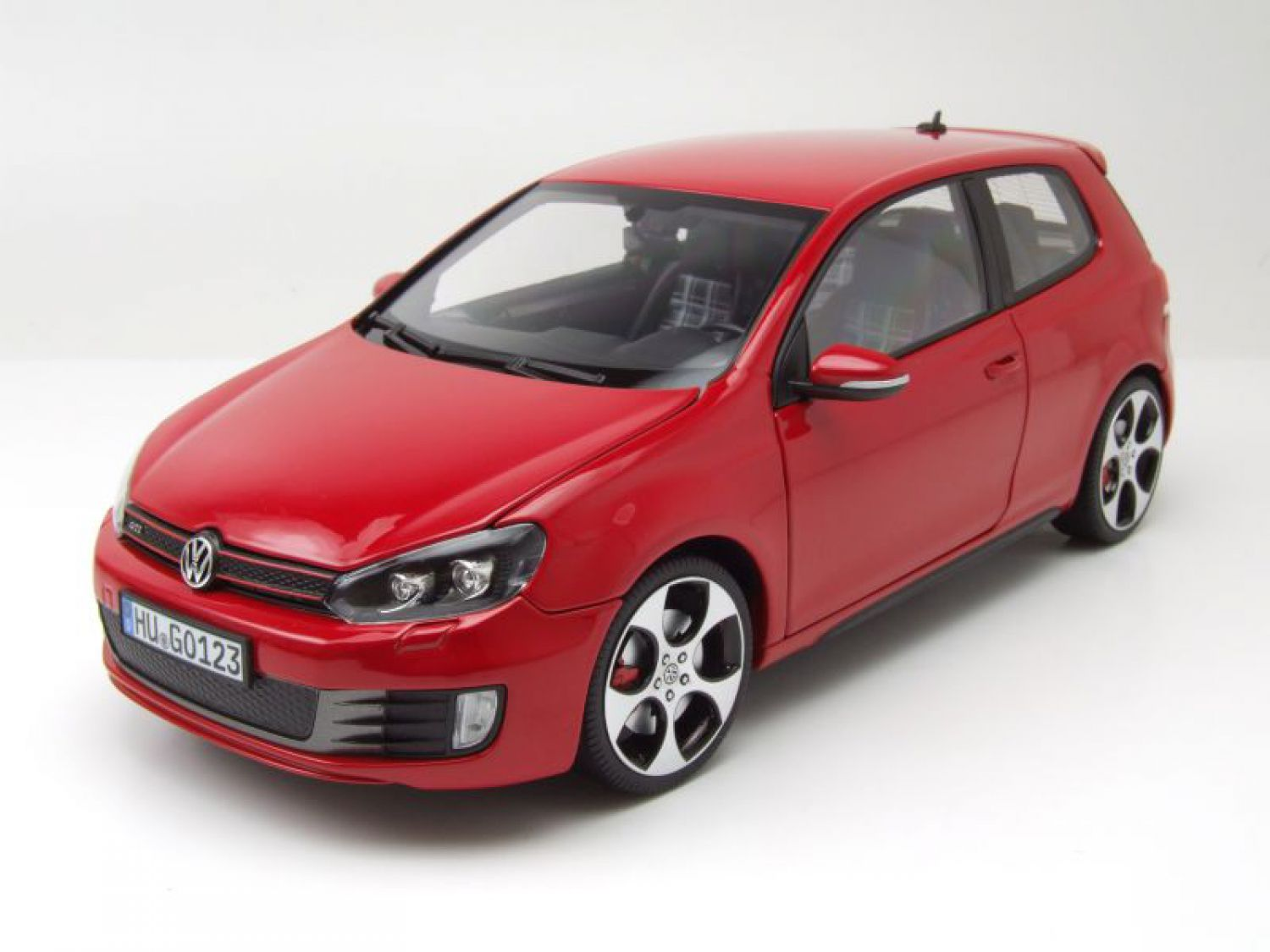 vw golf 6 gti 2009 rot modellauto 1 18 norev ebay. Black Bedroom Furniture Sets. Home Design Ideas