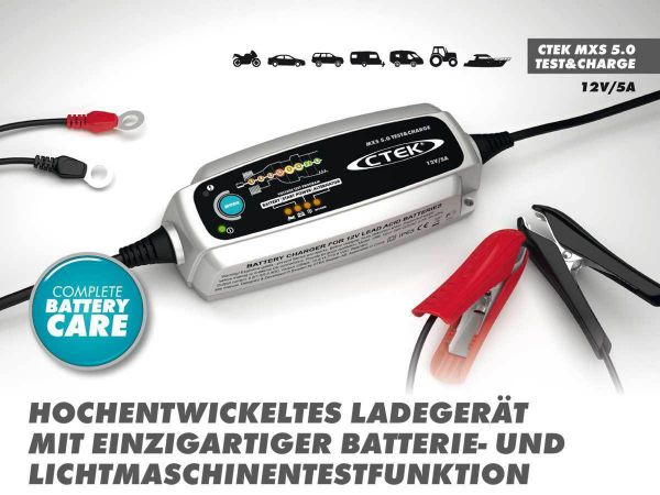 ctek mxs 5 0 test charge batterieladeger t batterie. Black Bedroom Furniture Sets. Home Design Ideas