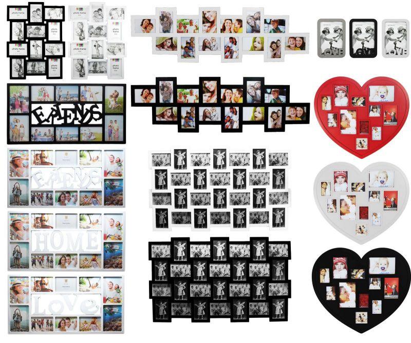 3D Bilderrahmen Multirahmen Fotorahmen Collage Fotogalerie Foto weiß ...