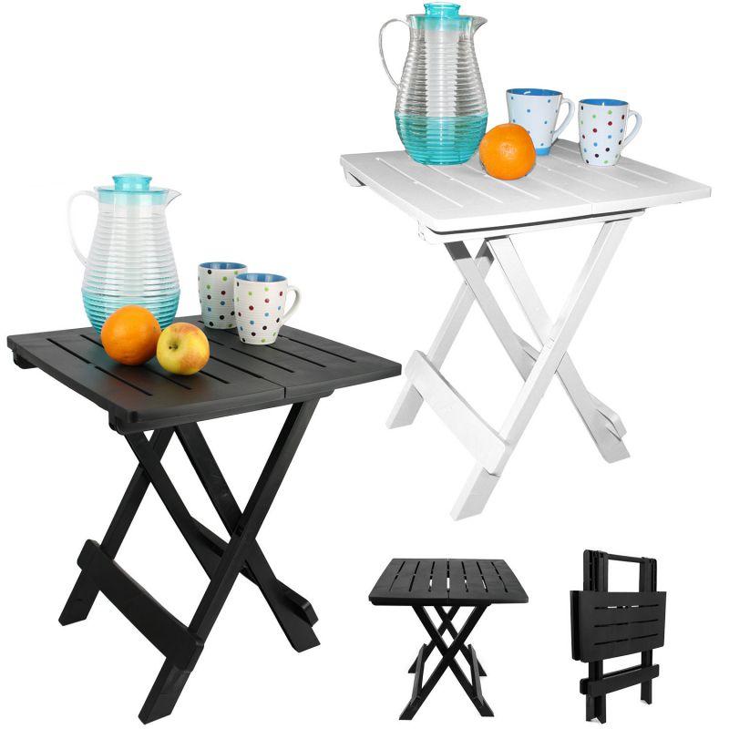 klapptisch balkontisch campingtisch tisch gartentisch klappbar schwarz wei ebay. Black Bedroom Furniture Sets. Home Design Ideas