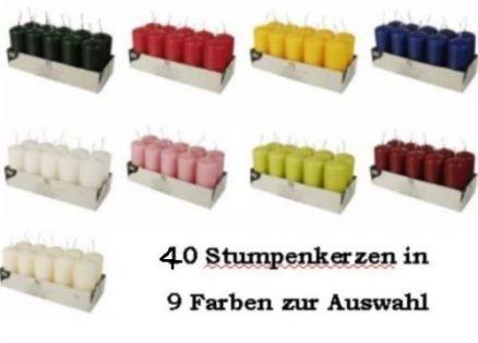 stumpenkerzen blockkerzen weihnachtskerzen 40 mm 90 mm. Black Bedroom Furniture Sets. Home Design Ideas