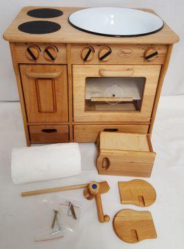 932 2042 Kinderküche Spielküche aus Holz mit