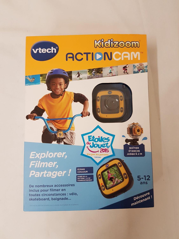vtech kidizoom actioncam kinderkamera cam gelb franz sisch speicherkarte ebay. Black Bedroom Furniture Sets. Home Design Ideas