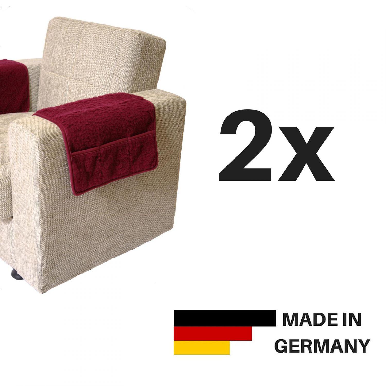 2er set linke licardo armlehnenschoner 3 taschen wolle div farben 50 cm x 55 cm. Black Bedroom Furniture Sets. Home Design Ideas