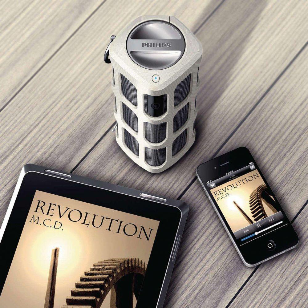 philips tragbarer bluetooth lautsprecher soundbar f r handy smartphone stereo ebay. Black Bedroom Furniture Sets. Home Design Ideas