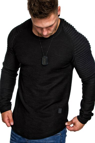 oversize vintage herren pullover biker style hoodie sweatshirt crew neck 6069 ebay. Black Bedroom Furniture Sets. Home Design Ideas
