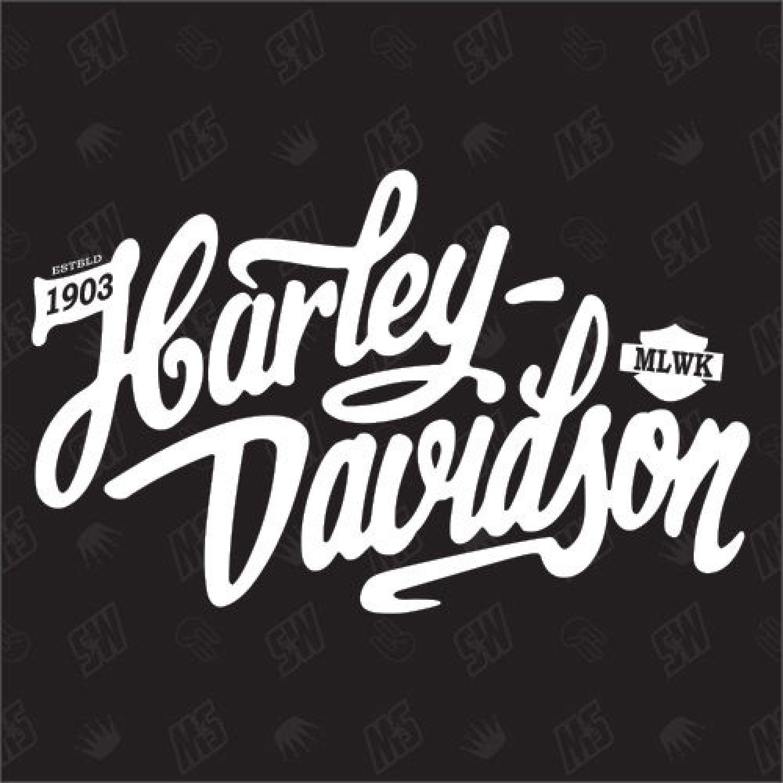 harley davidson schriftzug version 2 fan sticker. Black Bedroom Furniture Sets. Home Design Ideas