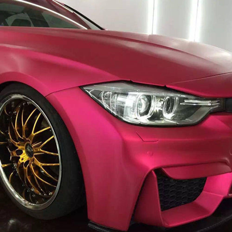 3d chrom matt metallic pink mit luftkan len car wrapping profi folie ebay. Black Bedroom Furniture Sets. Home Design Ideas