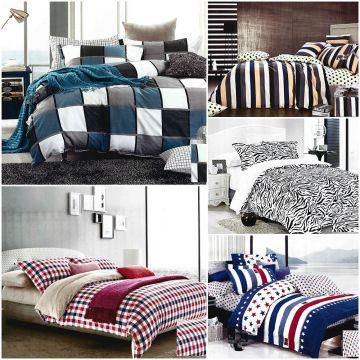 4 tlg bettw sche 135x200 140x200 155x200 160x200 satinbaumwolle 100 baumwolle ebay. Black Bedroom Furniture Sets. Home Design Ideas