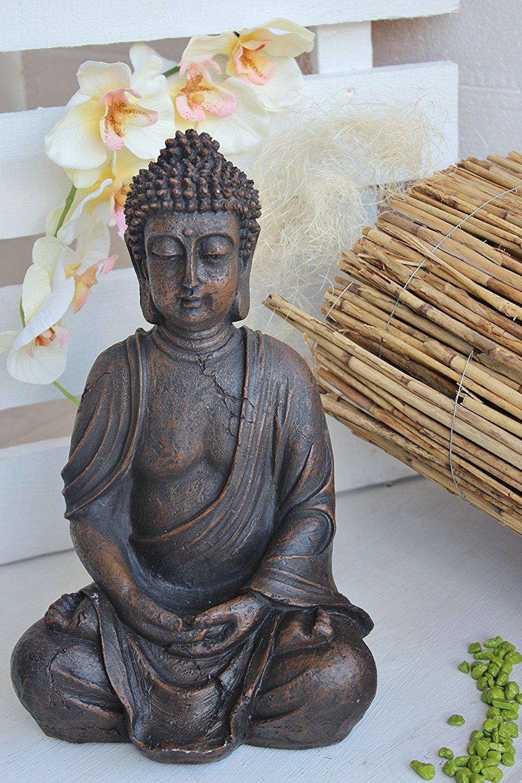 Deko figur buddha sitzend braun modern ausgefallen gro for Deko ausgefallen
