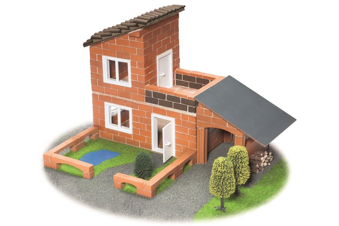 teifoc villa haus mit garage baukasten tei 470 ziegel steinbaukasten ebay. Black Bedroom Furniture Sets. Home Design Ideas